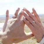 二人の手の写真